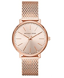 Women's Pyper Rose Gold-Tone Stainless Steel Mesh Bracelet Watch 38mm