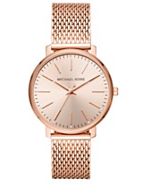 a832c450cd80 Michael Kors Women s Pyper Rose Gold-Tone Stainless Steel Mesh Bracelet  Watch 38mm