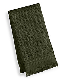 "French Connection Dorinda Cotton 16"" x 28"" Fringe Hand Towel, Created for Macy's"