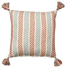 LR Home Altair Chevron Tassel Throw Pillow