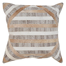 LR Home Textured Natural Throw Pillow