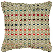 LR Home Colorful Dots Throw Pillow