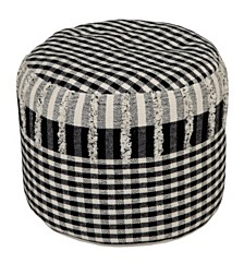 Posh Checkered Pouf