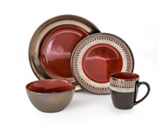Over and Back Quill 16 Piece Dinnerware Set