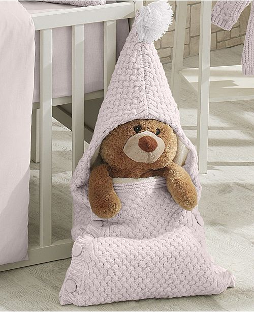 Nipperland Plushy Knitted Baby Sleep Bag Blanket