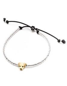 Labrador Retriever Head Bracelet in Sterling Silver and Enamel