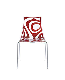 Wave Stacking Side Chair with Chrome Legs - Set Of 4