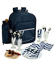 Deluxe 4 Person Picnic Backpack Cooler with Insulated Wine Pouch