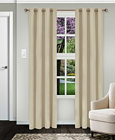 """Solid Textured Blackout Curtain, Set of 2, 52"""" x 63"""""""
