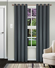 "Solid Textured Blackout Curtain, Set of 2, 52"" x 84"""