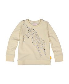 Masala Baby Girls Organic Cotton Cheetah Jump Top Winter