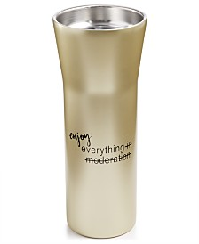 The Cellar 16-Oz. Stainless Steel Double-Walled Hot Beverage Gold Tumbler, Created for Macy's