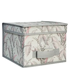Laura Ashley Jumbo Collapsible Storage Box in Palm Leaf