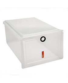 Simplify Stackable Shoe Box in Clear