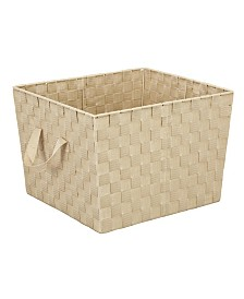 Simplify Large Woven Storage Bin in Ivory
