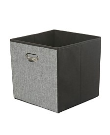 Simplify Linen Collapsible Storage Cube in Gray