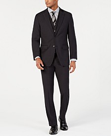 Men's Portfolio Slim-Fit Stretch Black Solid Suit Separates