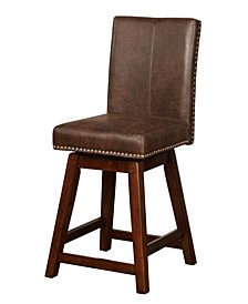 Cedar Wood Swivel Counter Stool
