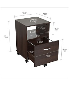 Inval America Mobile File Cabinet