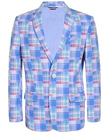Big Boys Patchwork Cotton Blazer
