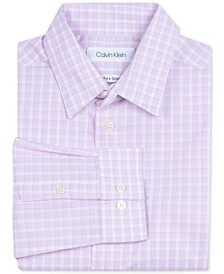 Big Boys Slim-Fit Stretch Plaid Dress Shirt