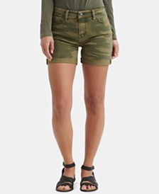 Lucky Brand Ava Camouflage-Print Denim Shorts