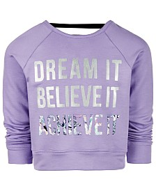 Ideology Little Girls Dream It Graphic Sweatshirt, Created for Macy's