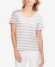 Vince Camuto Cotton Amour City Striped Top