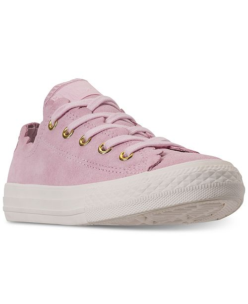 0fa1985ec108 ... Converse Little Girls  Chuck Taylor All Star Low Top Frilly Thrills  Casual Sneakers ...