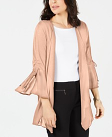 JM Collection Petite Bell-Sleeve Cardigan, Created for Macy's