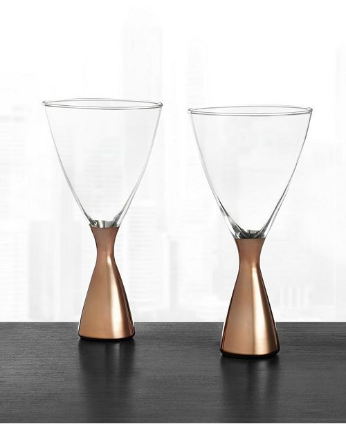 Hotel Collection Metallic Cocktail Glasses, Set of 2, Created for Macy's
