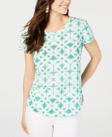 Printed Cotton Scoop-Neck T-Shirt, Created for Macy's