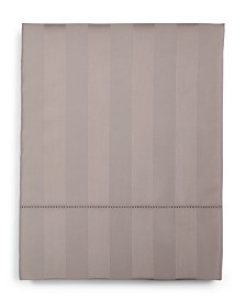Charter Club Damask Stripe Queen Flat Sheet, 550 Thread Count 100% Supima Cotton, Created for Macy's