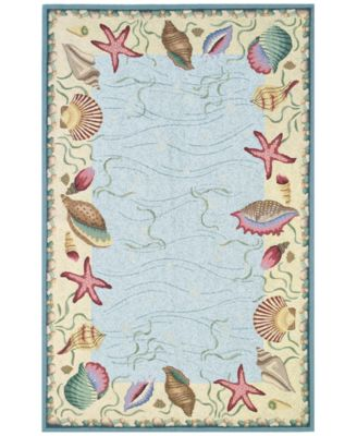 CLOSEOUT! Colonial Ocean Surprise 1804 Blue/Ivory 2'6