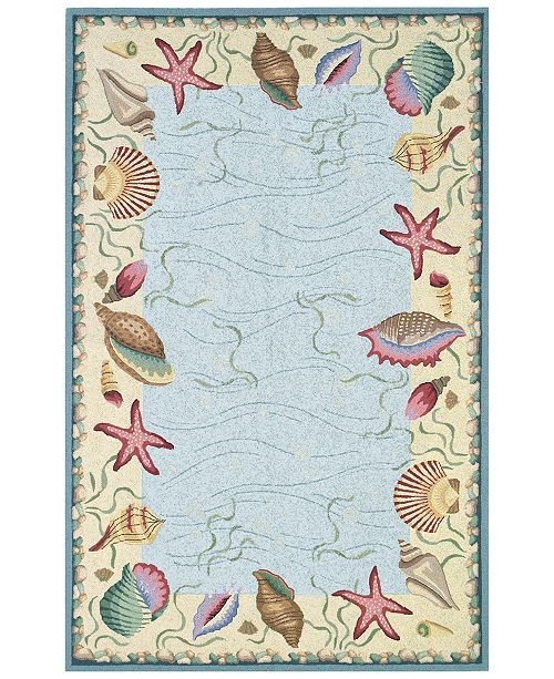 "Kas CLOSEOUT! Colonial Ocean Surprise 1804 Blue/Ivory 2'6"" x 4'6"" Oval Area Rug"