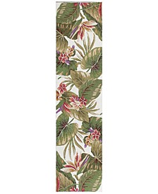 Colonial Tropical Paradise 1737 Ivory 2' x 8' Runner Area Rug