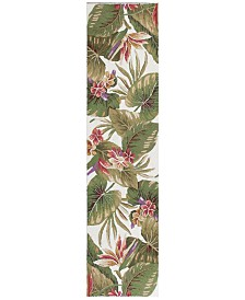 KAS Colonial Tropical Paradise 1737 Ivory 2' x 8' Runner Area Rug