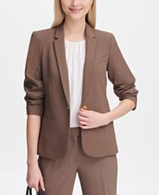 Calvin Klein Petite Single-Button Jacket