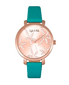 Sophie and Freda Quartz Key West Genuine Leather Watches 35mm
