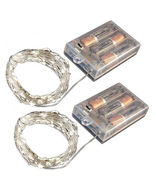 JH Specialties Inc/Lumabase Lumabase Set of 2, 100 Mini String Lights with Timer