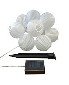 "Lumabase 10- 3"" Nylon Solar Lantern String Light"