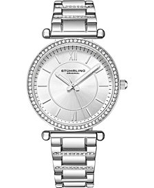 Stuhrling Original Women's Crystal Studded Bracelet Watch