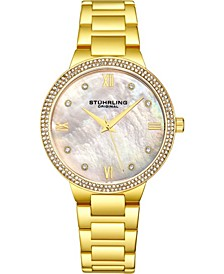Original Women's Gold-Tone Case and Bracelet, White Mop Dial Watch