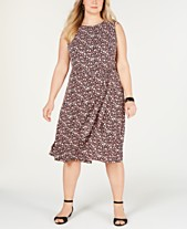 211e386f6a7 Charter Club Plus Size Floral-Print Midi Dress