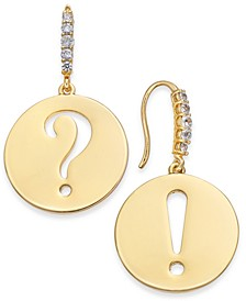 Gold-Tone Punctuation Drop Earrings