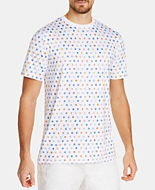 Tallia Men's Slim-Fit Stretch Multi-Dot T-Shirt