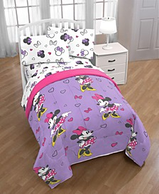 Minnie Mouse Purple Love Full Comforter