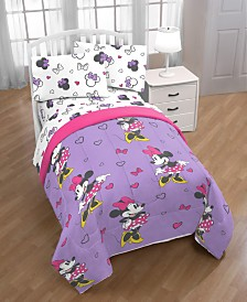 Disney Minnie Mouse Purple Love Full Comforter