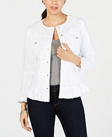 Ruffled Denim Jacket, Created for Macy's