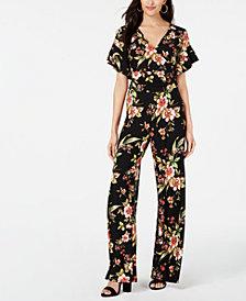 RACHEL Rachel Roy Floral-Print Jersey Jumpsuit